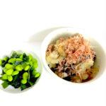 ナスとゴーヤと挽肉の煮物